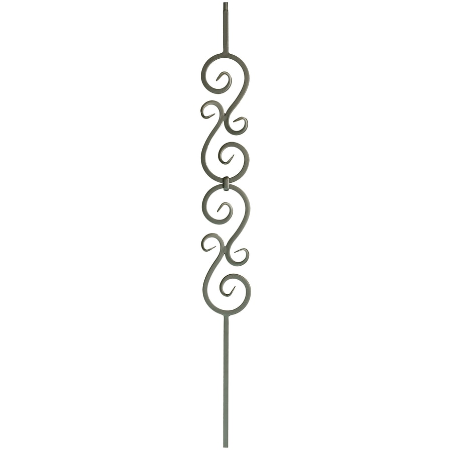 WM Coffman Scroll Series 44-in Flat Black Wrought Iron Stair Baluster
