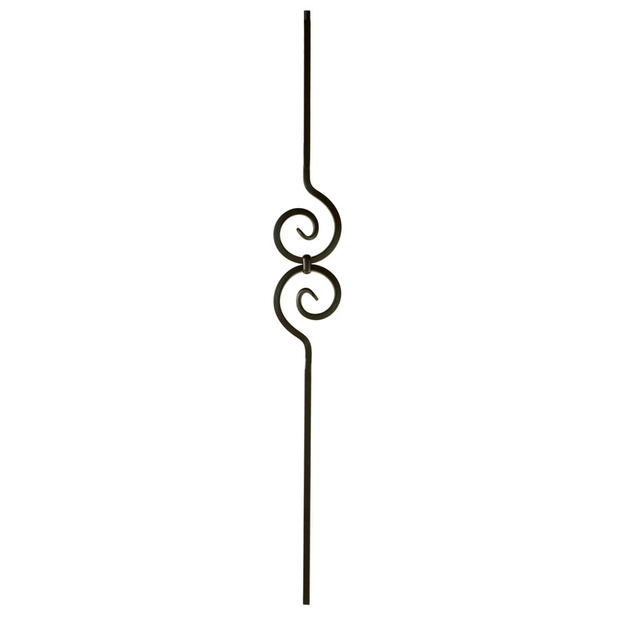 WM Coffman Scroll Series 44-in Satin Black Wrought Iron Stair Baluster