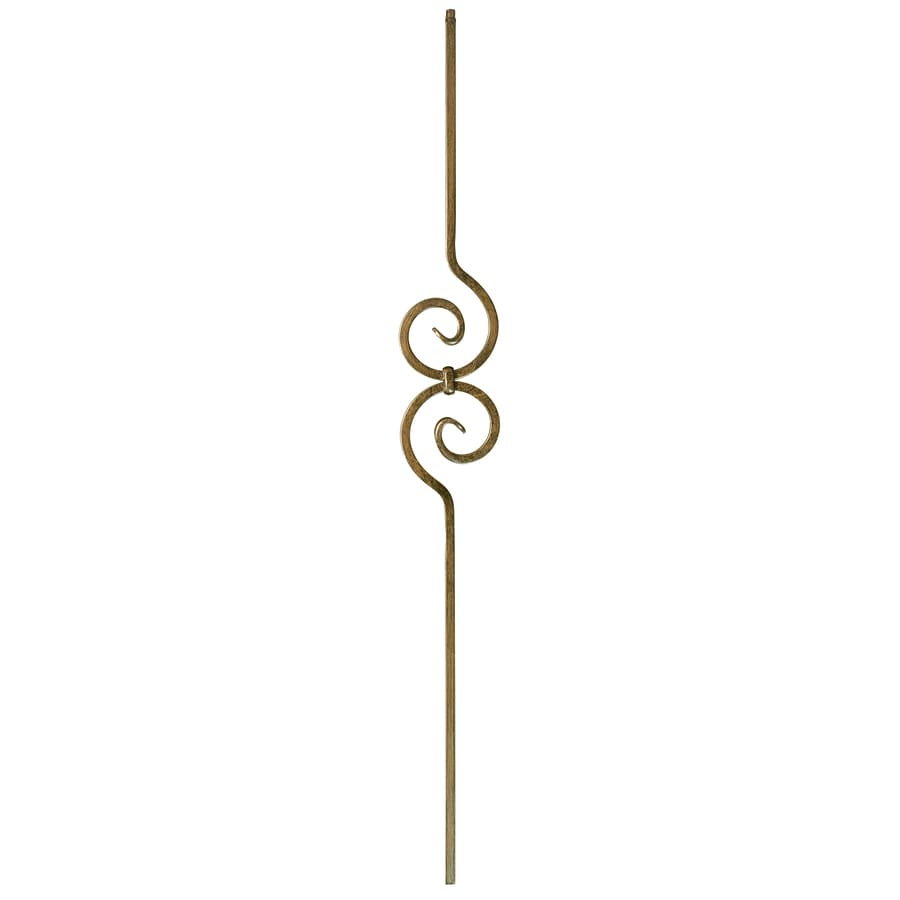 WM Coffman Scroll Series 44-in Oil-Rubbed Bronze Wrought Iron Scroll Stair Baluster
