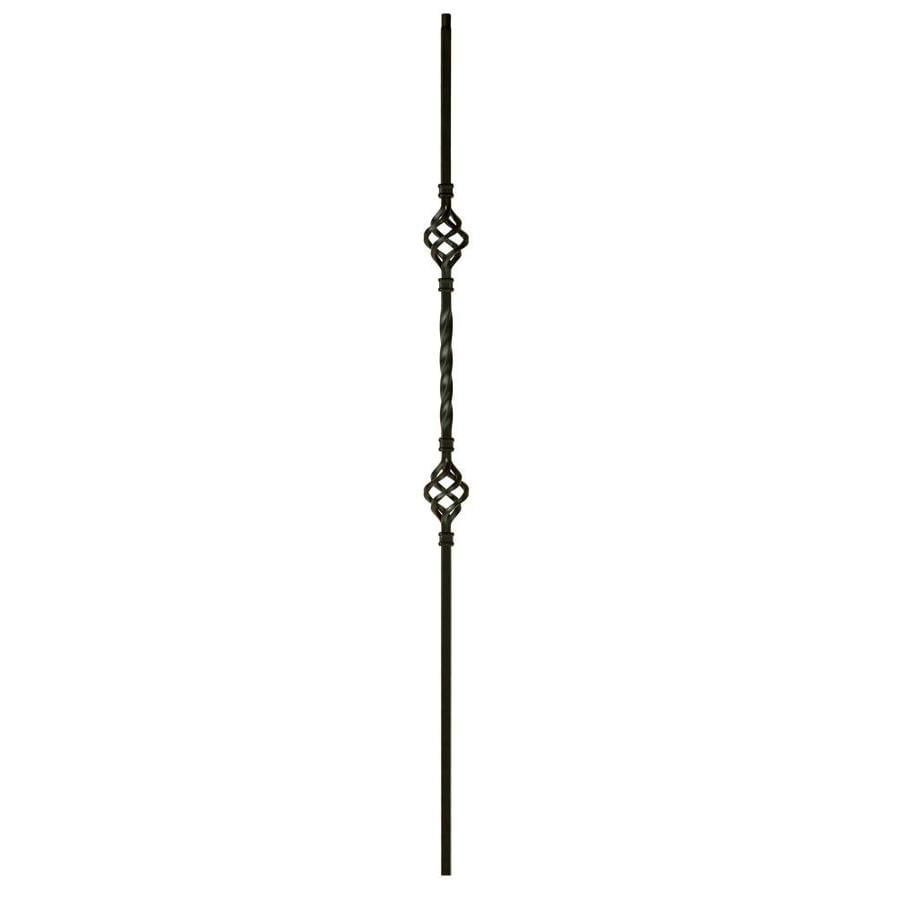 WM Coffman 44-in Satin Black Wrought Iron Twist Stair Baluster