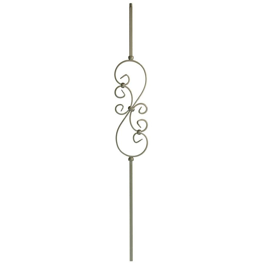 WM Coffman 44-in Flat Black Wrought Iron Scroll Stair Baluster