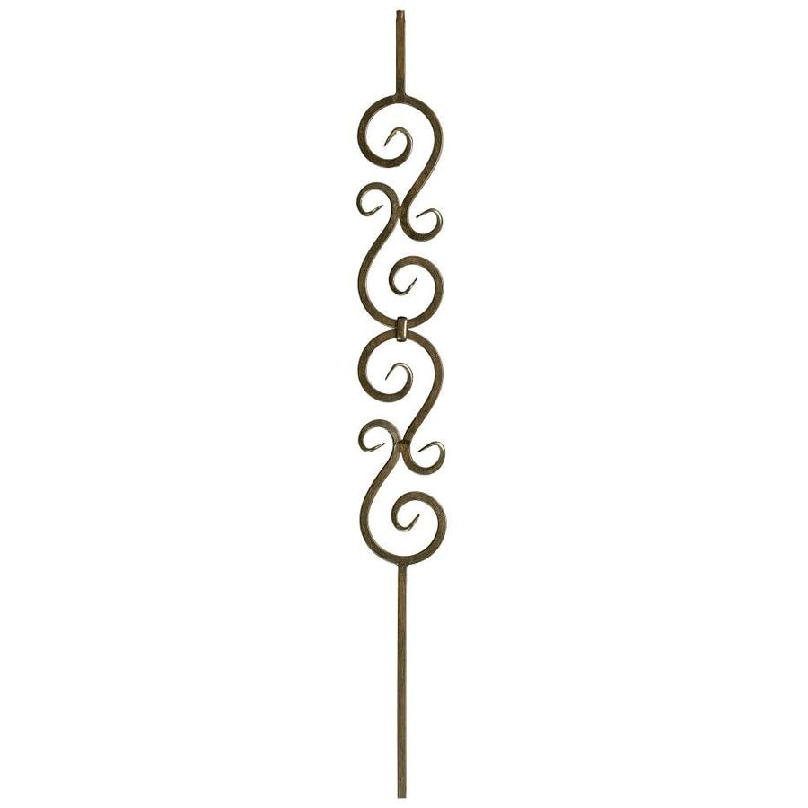 WM Coffman 44-in Oil Rubbed Bronze Wrought Iron Scroll Stair Baluster