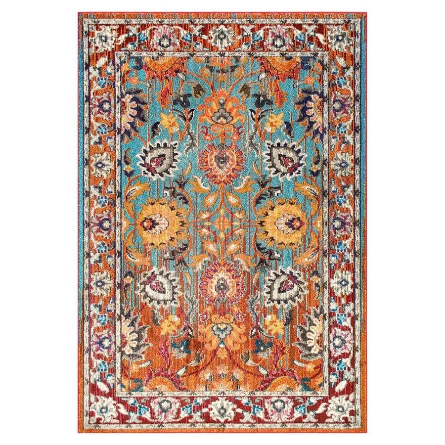 Nuloom Mallory 8 X 11 Multi Color Indoor Border Area Rug In The Rugs Department At Lowes Com