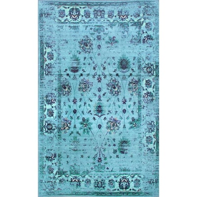 Nuloom Turquoise Indoor Bohemian Eclectic Area Rug Common 5 X 8