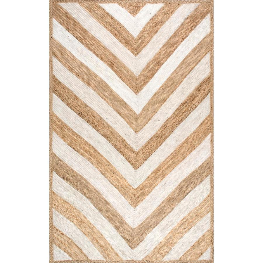 Nuloom 9 X 12 Natural Indoor Chevron Handcrafted Area Rug In The Rugs Department At Lowes Com