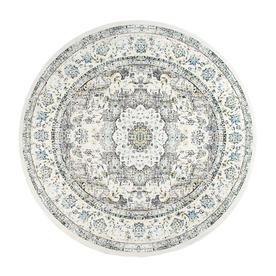 Gray Solid Loomed Round Area Rug - (8) - nuLOOM