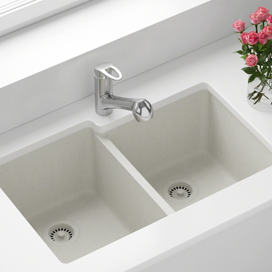 Industrial Residential Kitchen: MR Direct 32.5-in X 20.38-in White Double-Basin Undermount