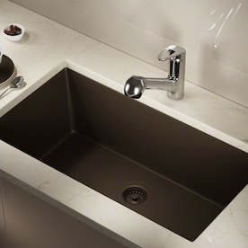 Mr Direct Undermount 32 63 In X 18 38 In White Single Bowl Kitchen Sink In The Kitchen Sinks Department At Lowes Com