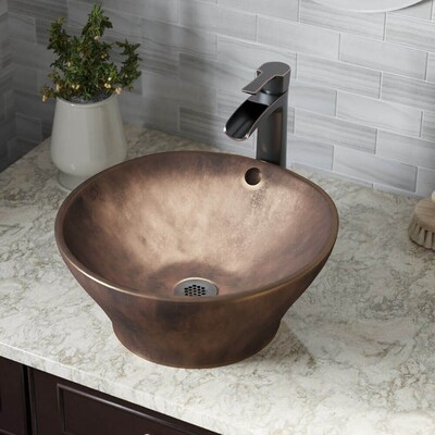 Mr Direct Antique Bronze Bronze Vessel Irregular Bathroom