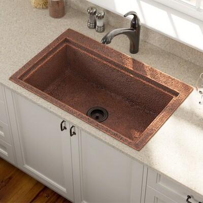 Mr Direct 31 5 In X 19 75 Copper Single Bowl Drop Or