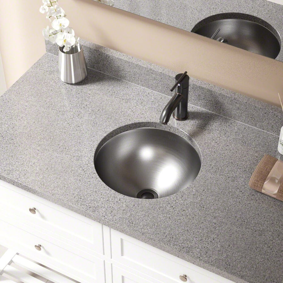 Mr Direct Stainless Steel Stainless Steel Drop In Or Undermount Round Bathroom Sink With Overflow Drain Drain Included 16 25 In X 16 25 In In The Bathroom Sinks Department At Lowes Com
