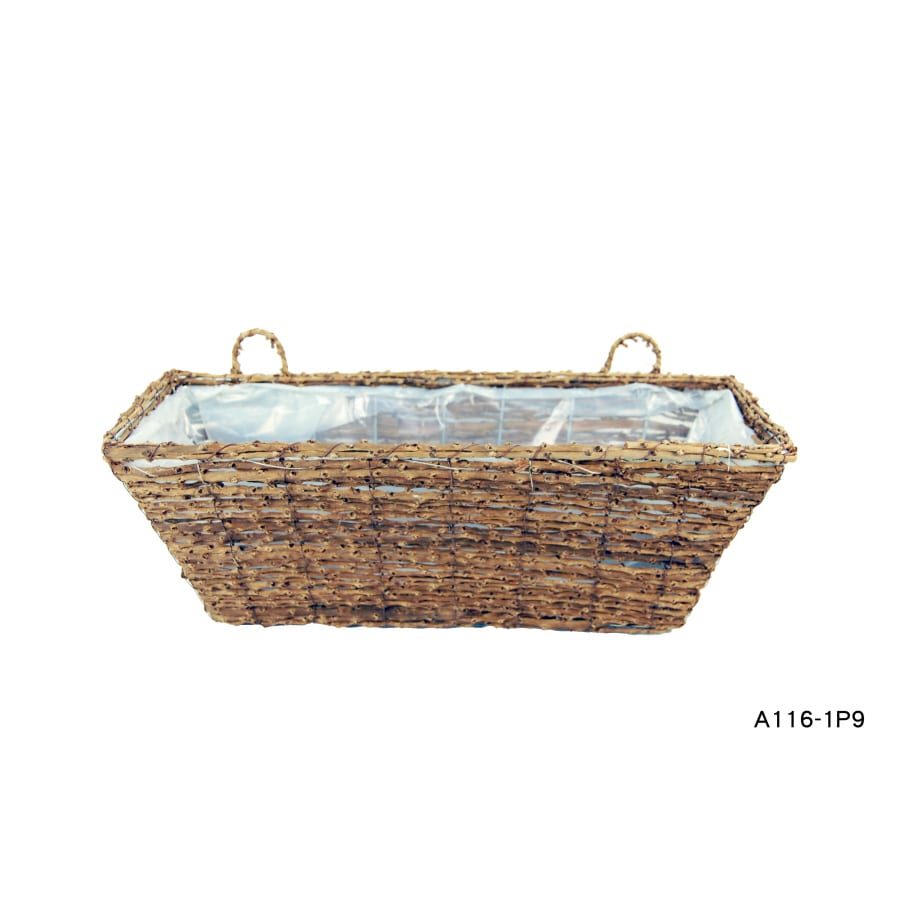 Garden Treasures 8-1/2-in H x 20-in W x 7-1/2-in D Wicker Outdoor Window Box