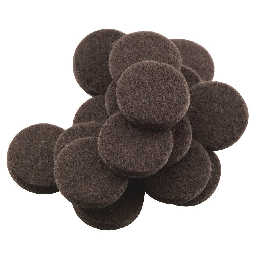 SoftTouch 48-Pack 1-in Round Adhesive-Backed Felt Hard Surface Slider