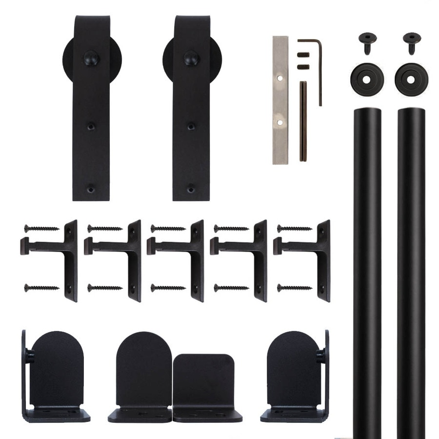 Quiet Glide 72-in Matte Black Aluminum Side Mount Sliding Barn Door Kit