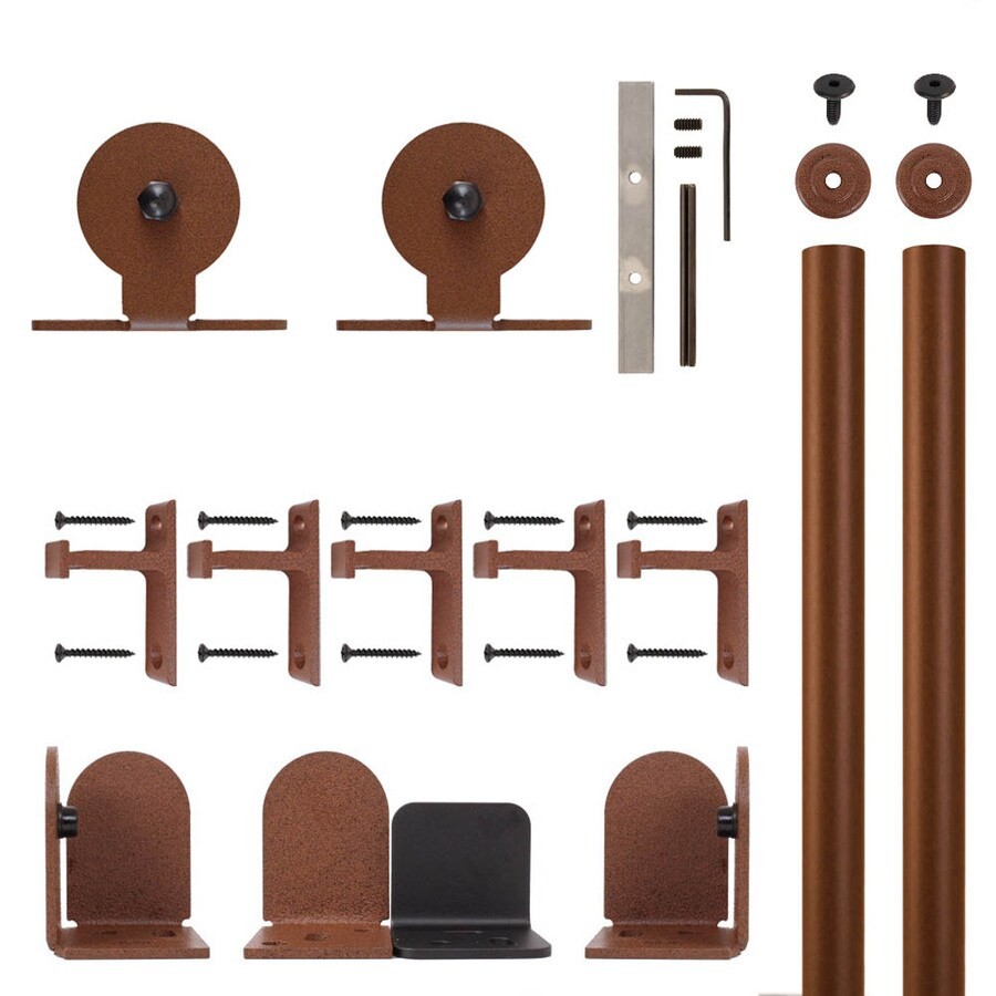 Quiet Glide 72-in Rust Aluminum Top Mount Sliding Barn Door Kit