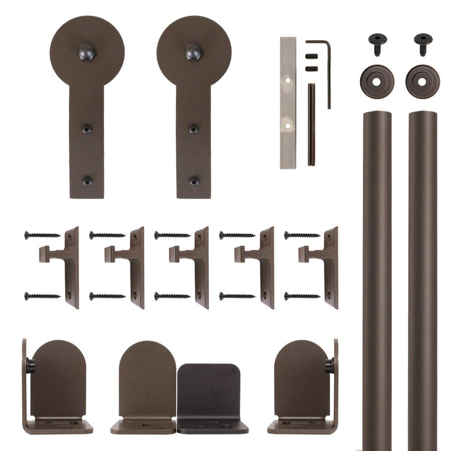 Quiet Glide 72-in Bronze Aluminum Side Mount Sliding Barn Door Kit