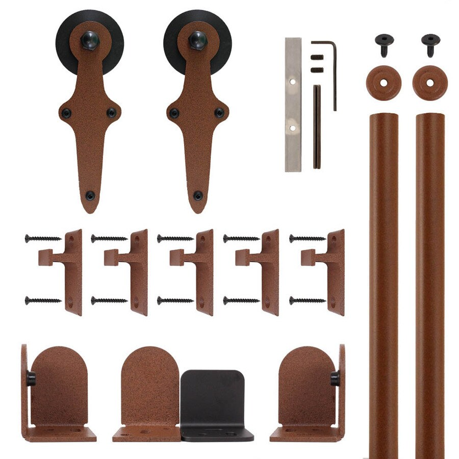Quiet Glide 72-in Rust Aluminum Side Mount Sliding Barn Door Kit