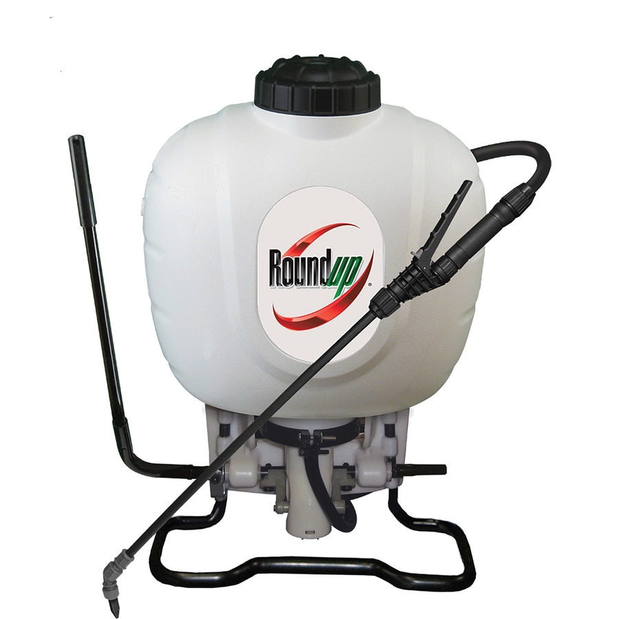 Roundup 4-Gallon Plastic Tank Sprayer with Should Strap