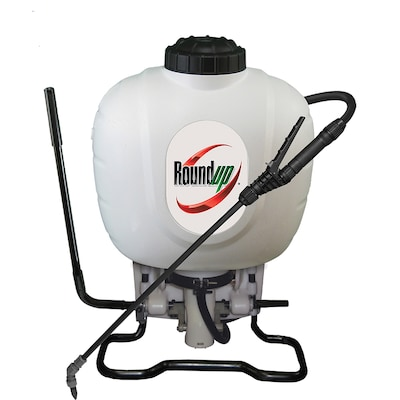 Roundup 4-Gallon Plastic Tank Sprayer with Shoulder Strap at