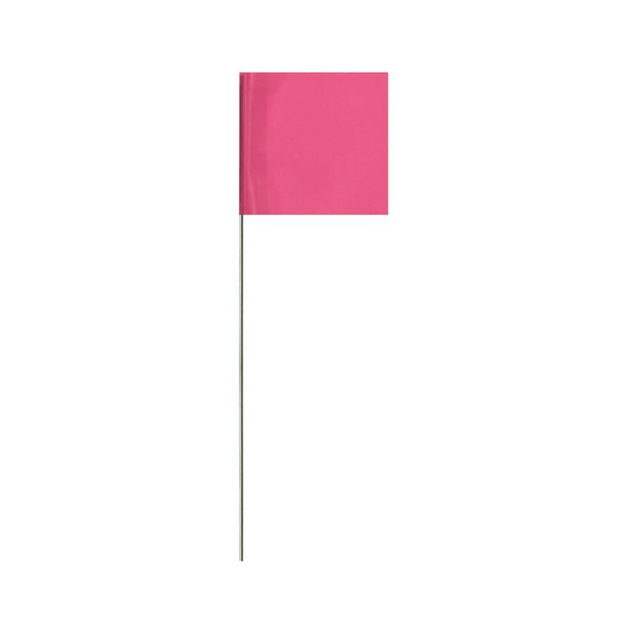 Presco 15-in Pink PVC Marking Flag