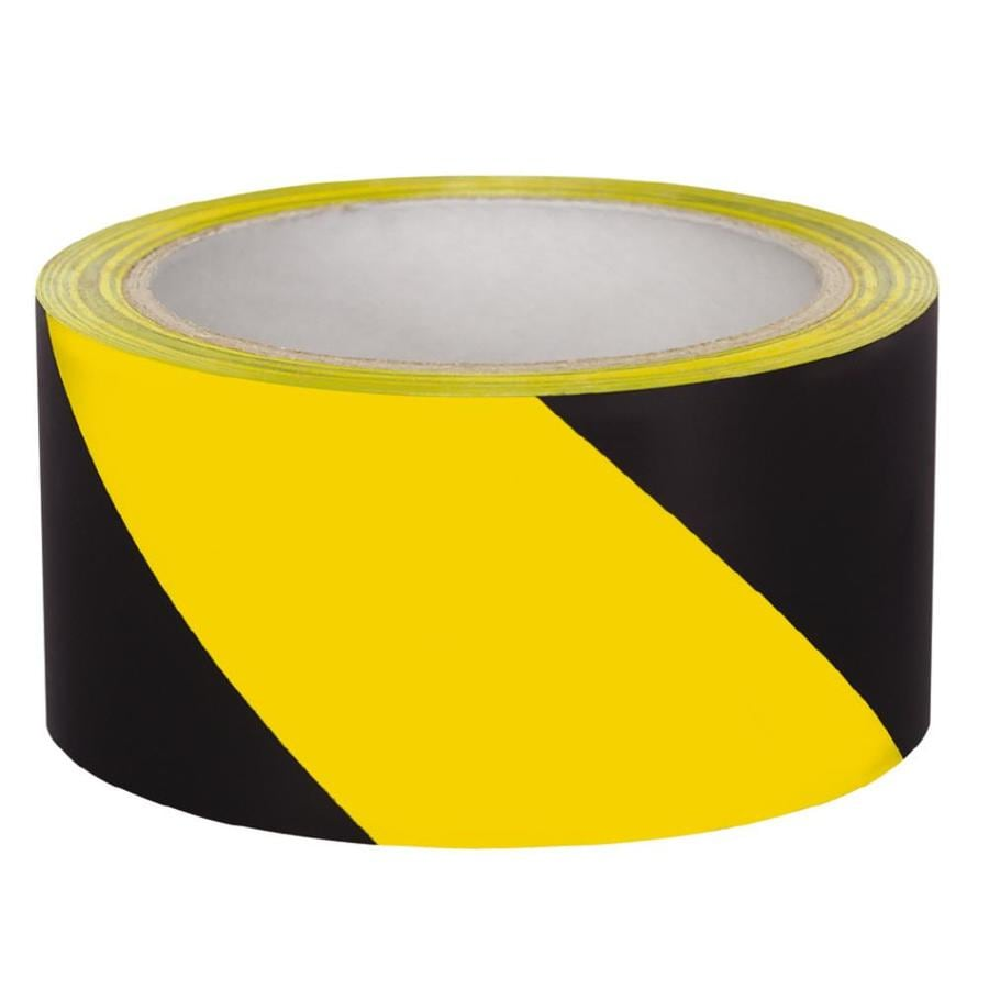 Presco 2-in x 54-ft Striped Yellow and Black Flagging Tape