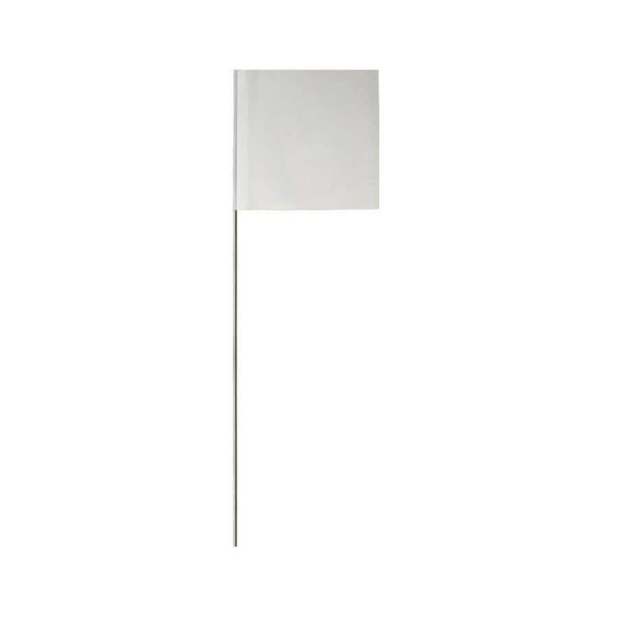 Presco 15-in White PVC Marking Flag