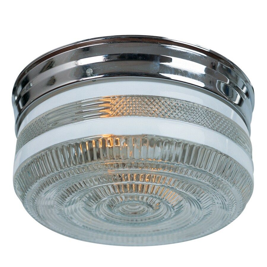 Portfolio 2-Light Chrome Ceiling Flush Mount