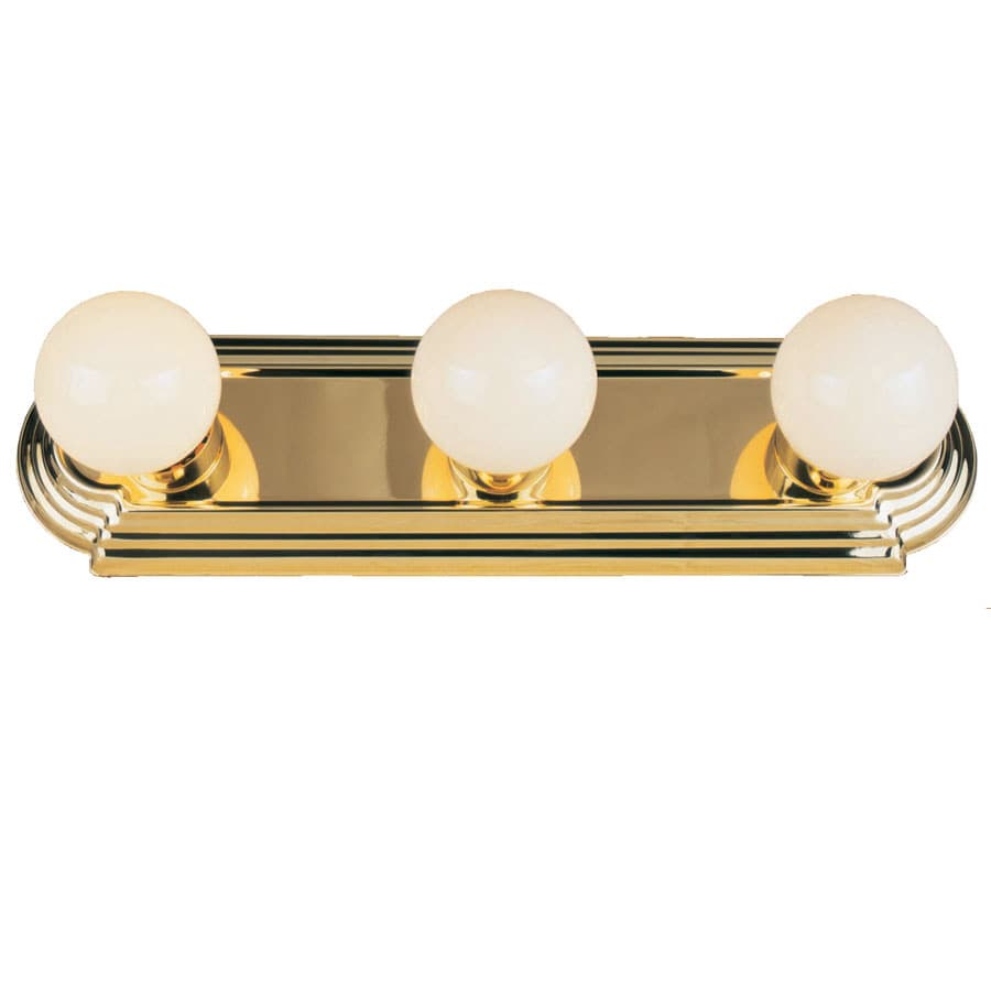 Bathroom Vanity Lights Brass shop project source 3-light brass bathroom vanity light at lowes