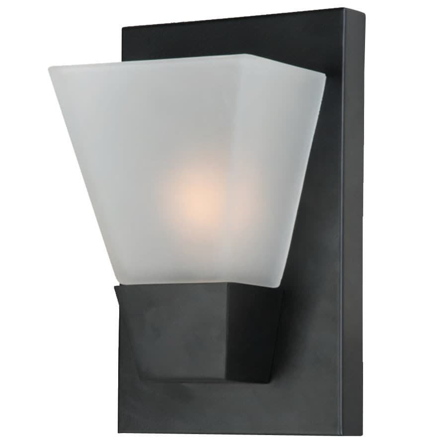 Portfolio 5.52-in W 1-Light Matte Black Pocket Wall Sconce