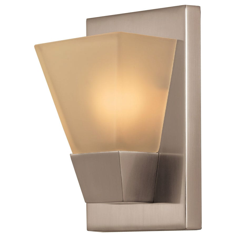 Portfolio 5.52 In W 1 Light Brushed Nickel Pocket Wall Sconce
