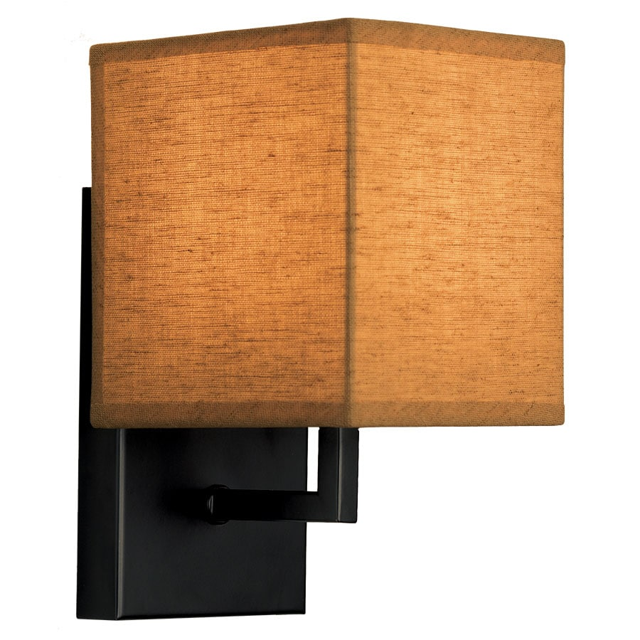 Portfolio 5.1-in W 1-Light Black Pocket Hardwired Wall Sconce
