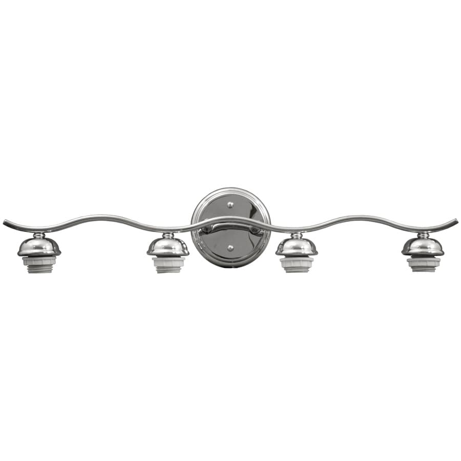 Portfolio D&C 4-Light Chrome Bathroom Vanity Light
