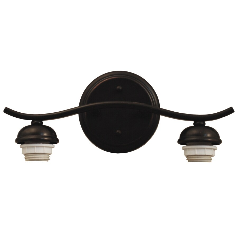 Portfolio D&C 2-Light Dark Oil-Rubbed Bronze Bathroom Vanity Light