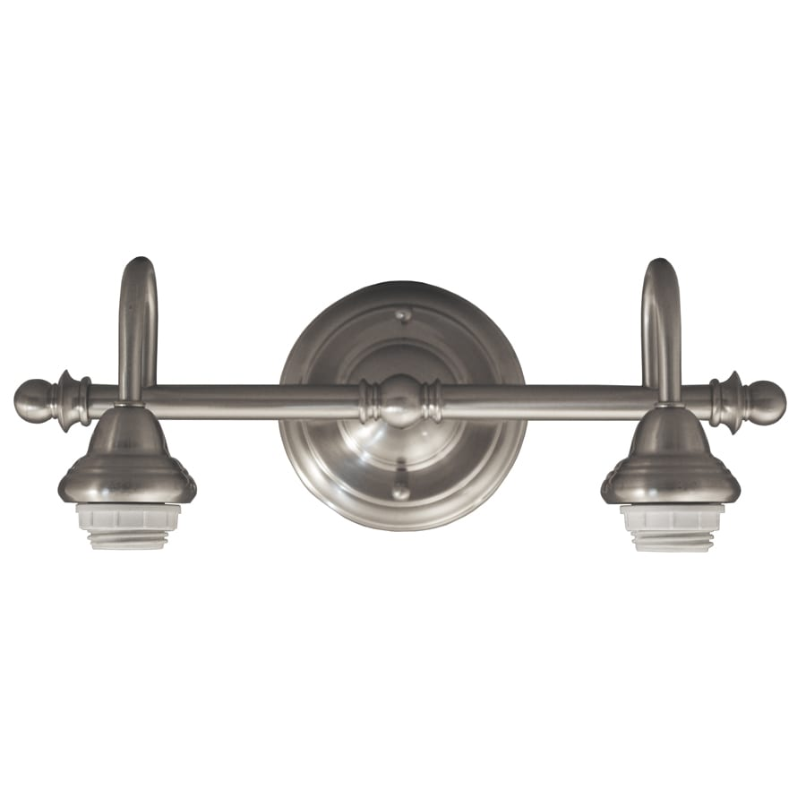 Portfolio D&C 2-Light 5.71-in Brushed Nickel Vanity Light