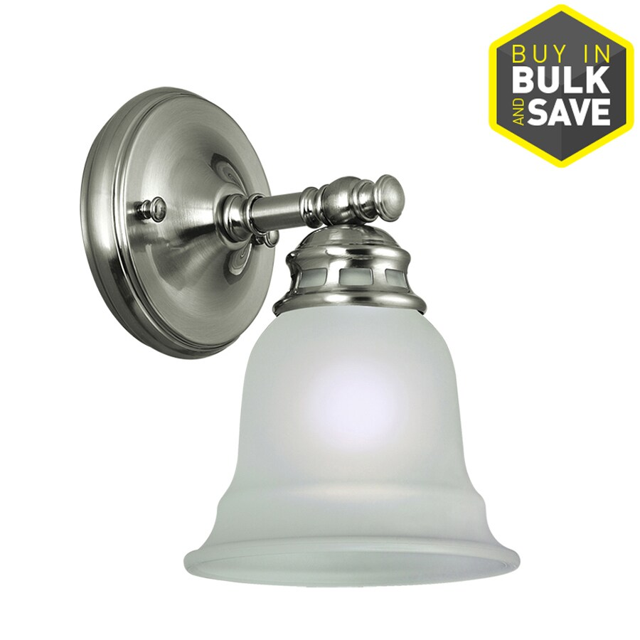 Project Source Fallsbrook 6.14 In W 1 Light Brushed Nickel Arm Hardwired Wall  Sconce Part 47