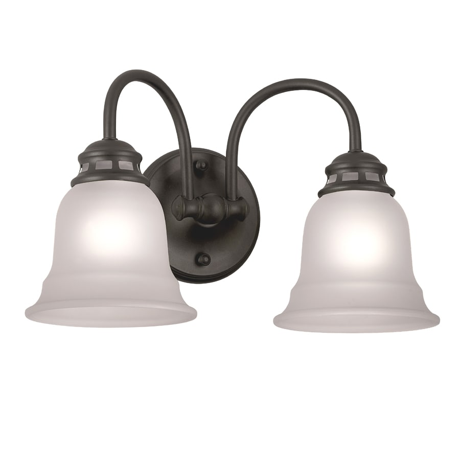 Project Source Tavern 2-Light 9.25-in Oil-Rubbed bronze Vanity Light