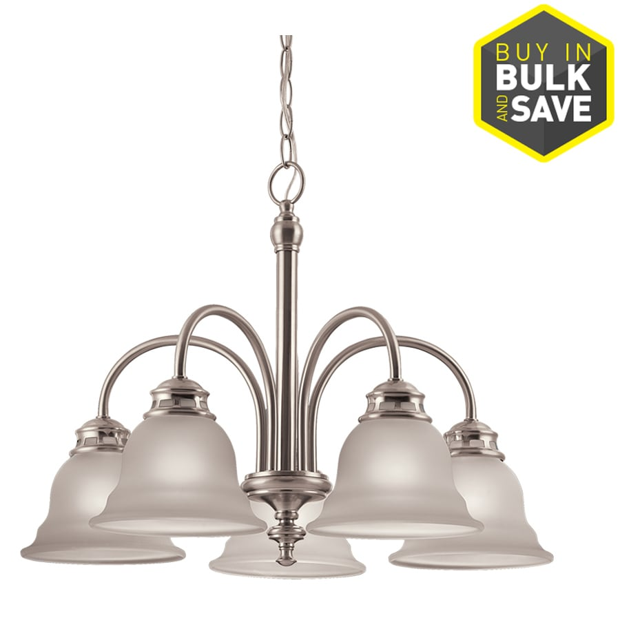 Shop Project Source Fallsbrook 5-Light Brushed Nickel Chandelier at ...