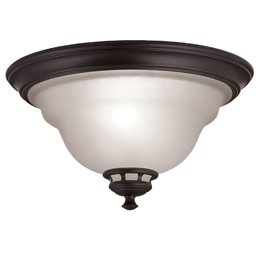 Shop project source fallsbrook 13 in w dark oil rubbed bronze project source fallsbrook 13 in w dark oil rubbed bronze ceiling flush mount mozeypictures