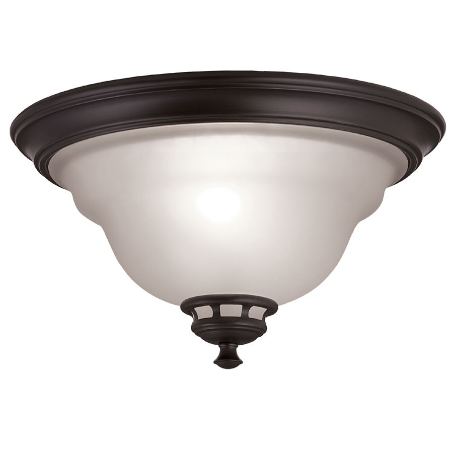 Shop project source fallsbrook 13 in w dark oil rubbed bronze project source fallsbrook 13 in w dark oil rubbed bronze ceiling flush mount mozeypictures Images