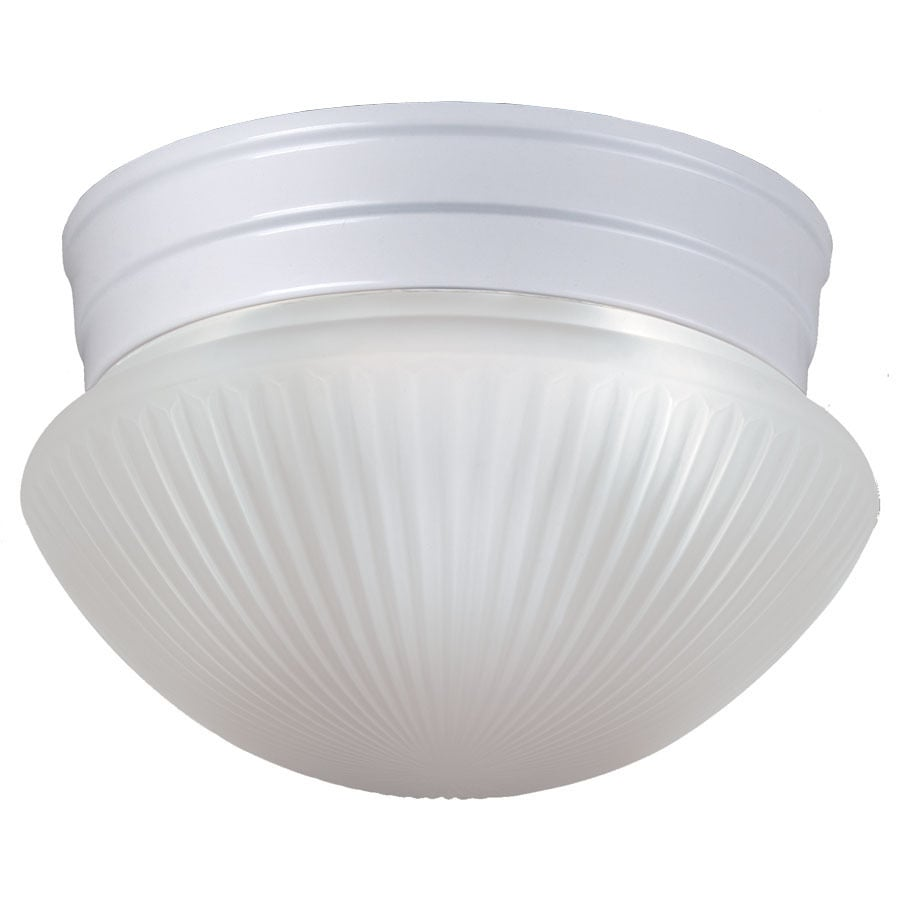 Project Source 7.48-in W White Ceiling Flush Mount Light