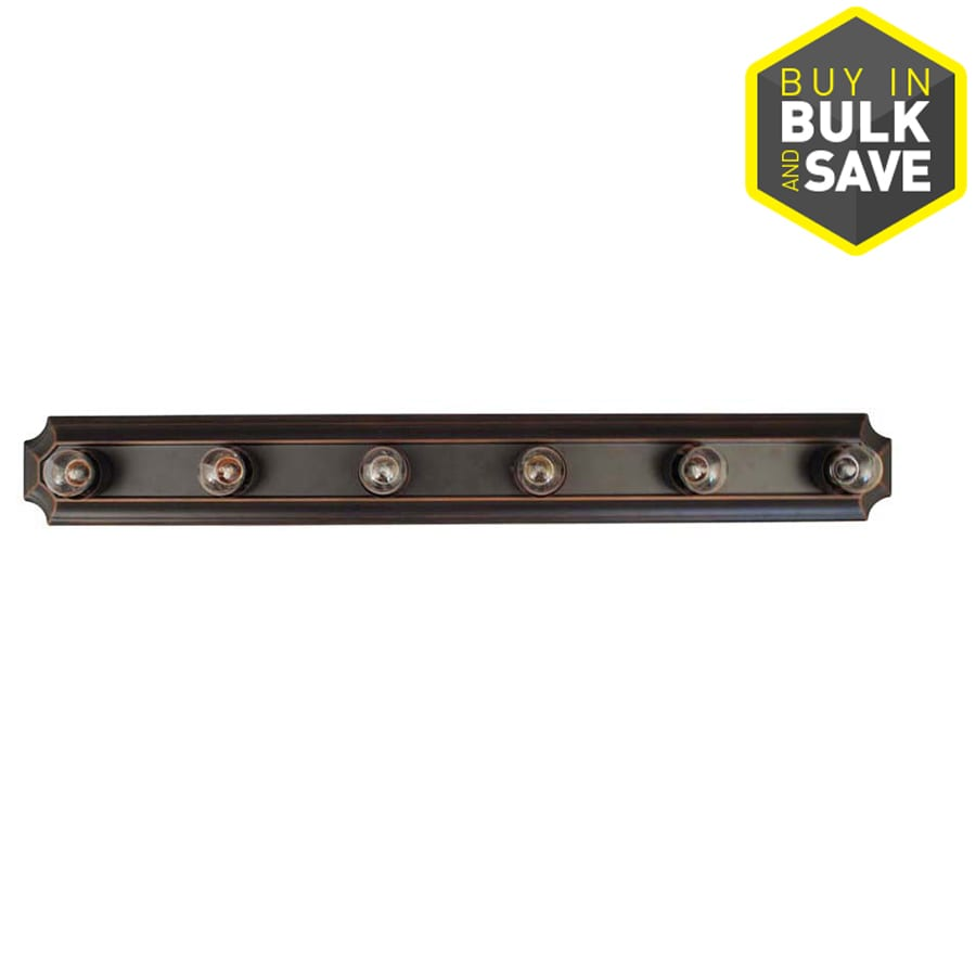 Project Source 6-Light 4.53-in Bronze Vanity Light