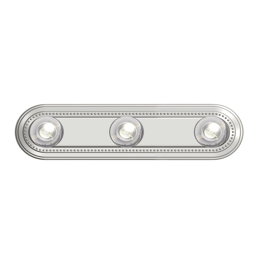 Project Source 3-Light 4.49-in Brushed nickel Vanity Light