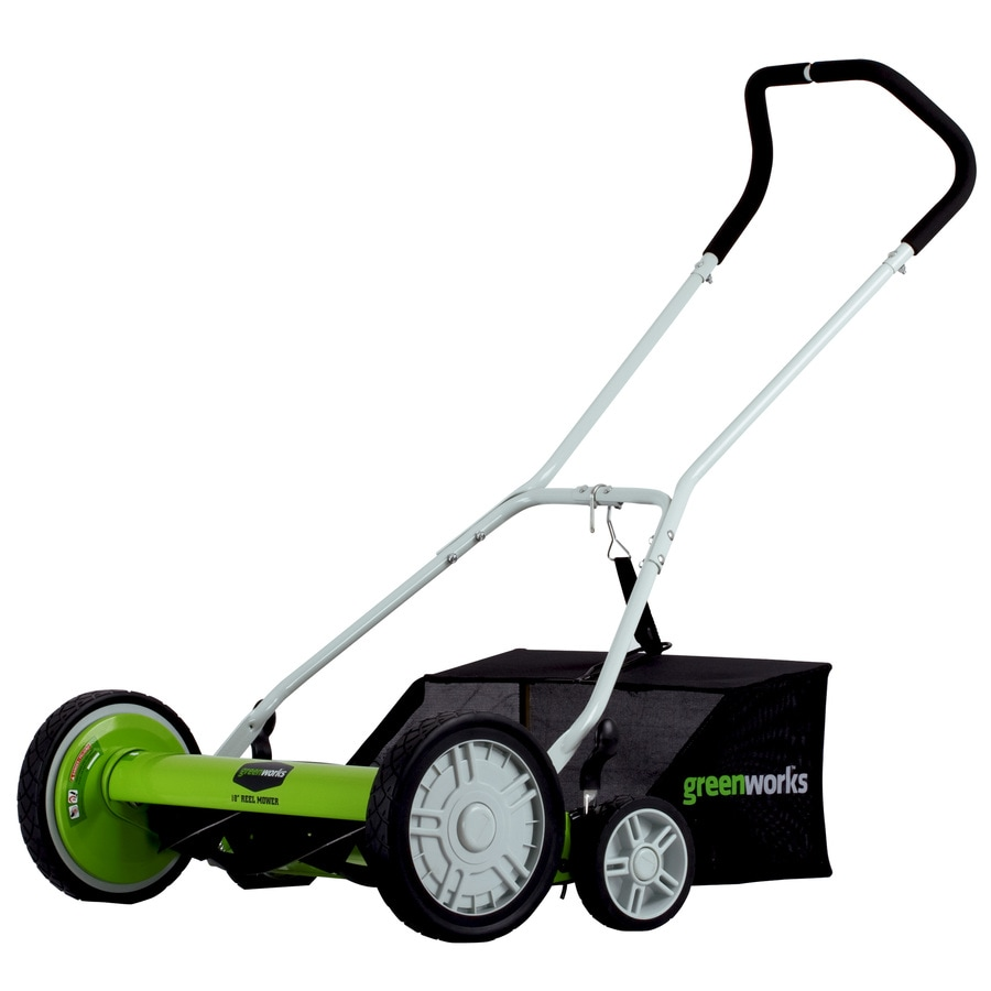 Greenworks 18-in Reel Lawn Mower
