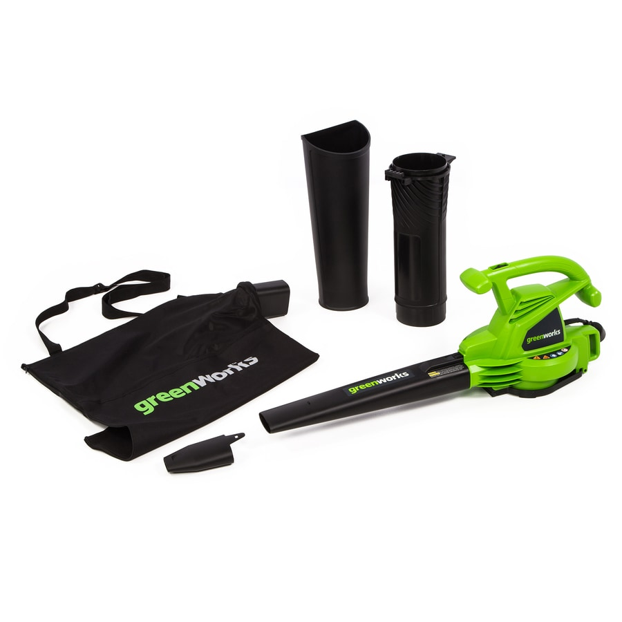 Greenworks 12-Amp 380-CFM 230-MPH Light-Duty Corded Electric Leaf Blower Vacuum Kit Included