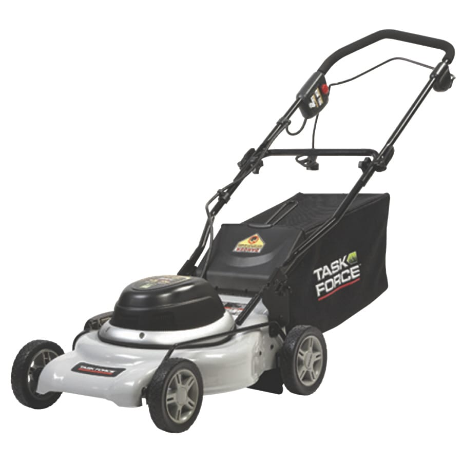 Task Force 12-Amp Deck Width Corded Electric Push Lawn Mower with Mulching Capability