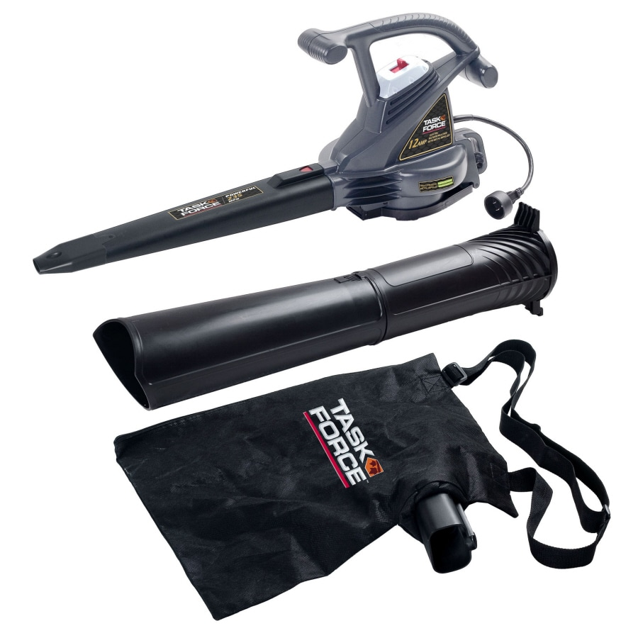 Task Force 12-Amp 380-CFM 235-MPH Medium-Duty Corded Electric Leaf Blower with Vacuum Kit
