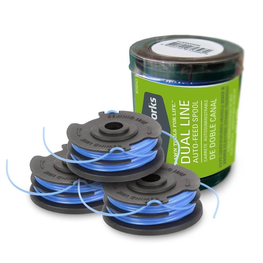 Greenworks 3-Pack 20-ft Spool 0.065-in Spooled Trimmer Line
