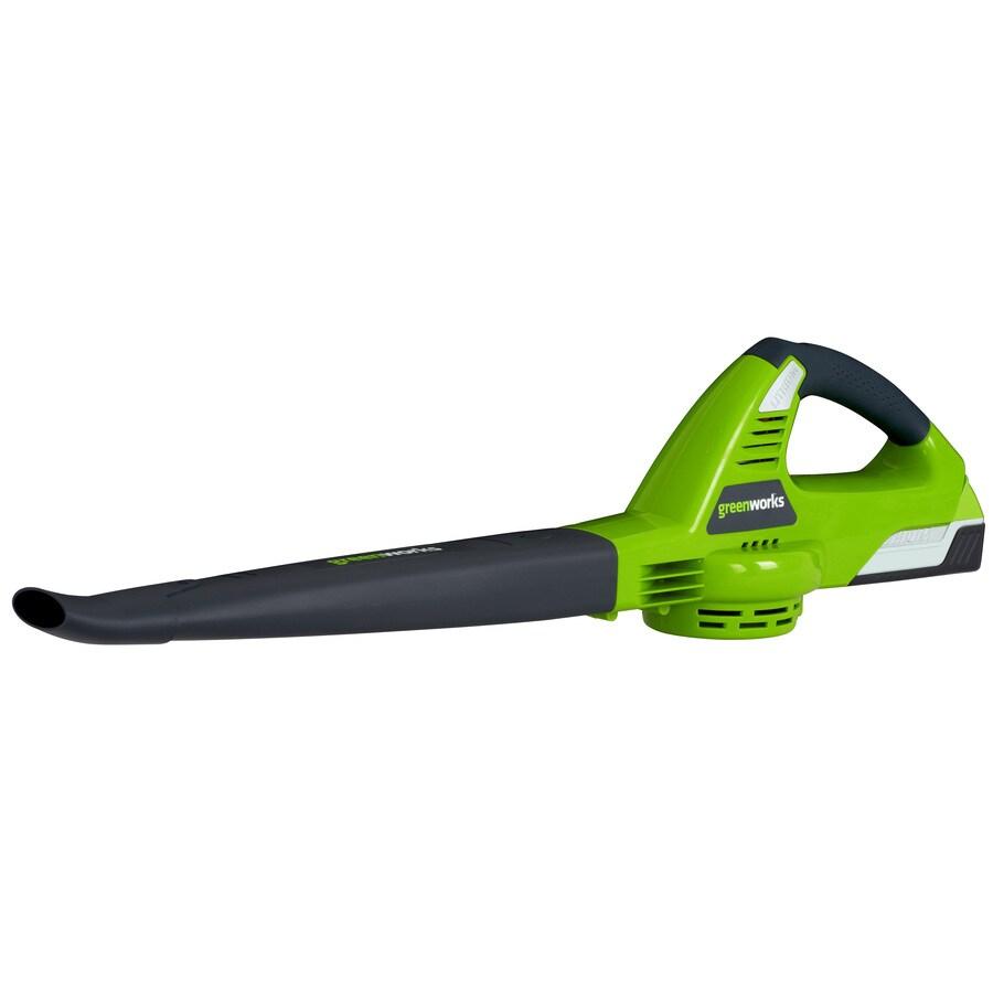 Greenworks 20-Volt Lithium Ion (Li-ion) 240-CFM 132-MPH Cordless Electric Leaf Blower