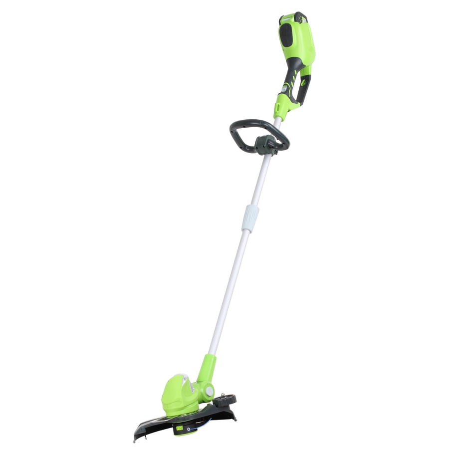 Greenworks 40-Volt 12-in Straight Cordless String Trimmer and Edger