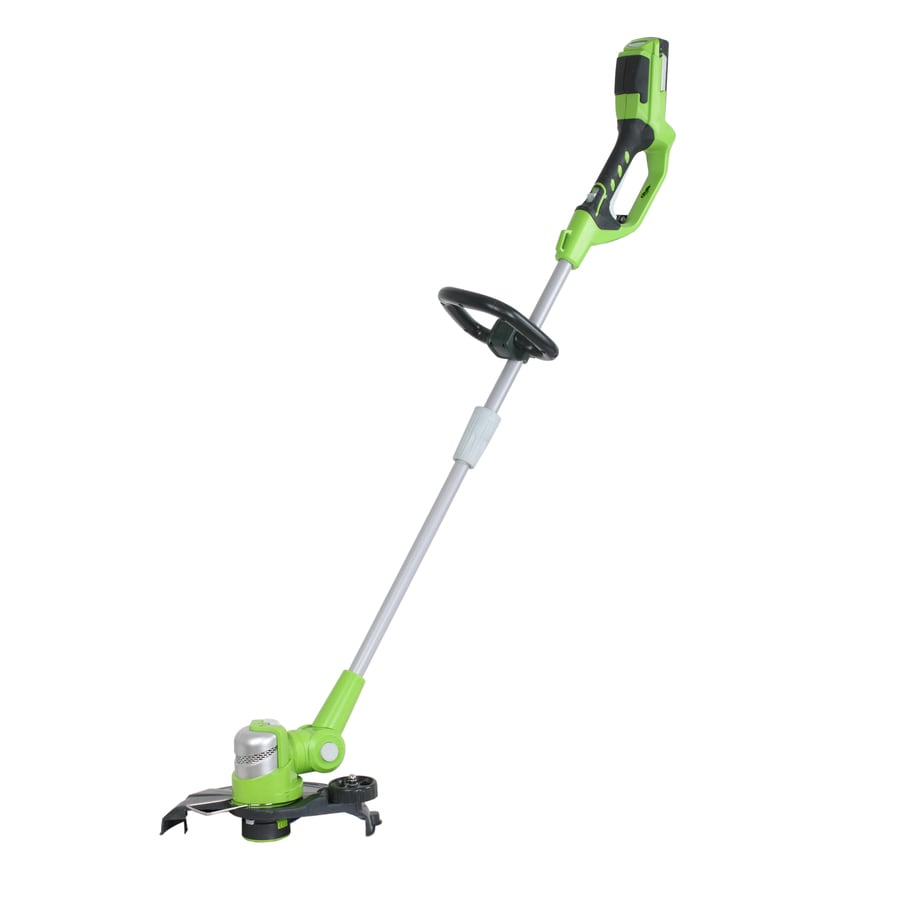 Greenworks 24-Volt 12-in Straight Cordless String Trimmer and Edger